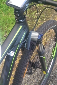 Bike-Eye attaches to the frame