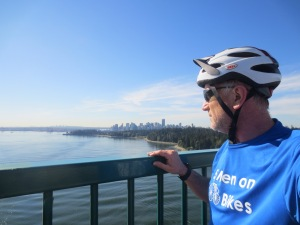 Standing on Lions Gate Bridge in Vancouver