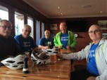 At The Thirsty Whale after Day 1 ride: Steve, Dale, Kev, Paul & Kem