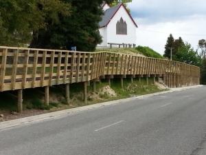 Wakefield raised cycle trail